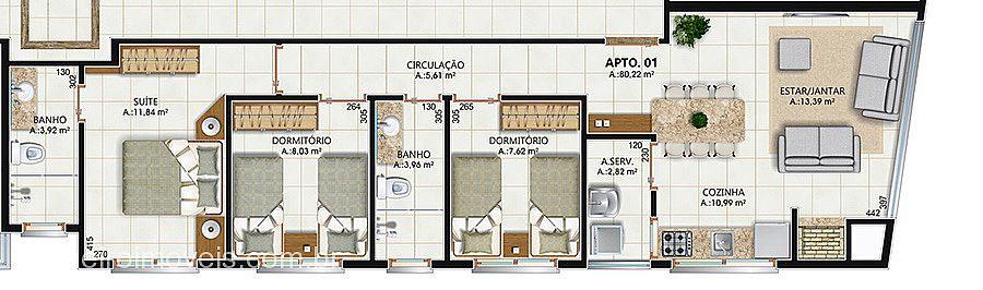 Apto 2 Dorm, Centro, Tramandaí (275586) - Foto 5