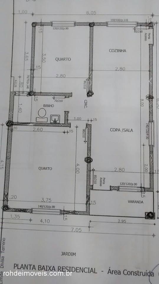 Casa 2 Dorm, Marina, Cachoeira do Sul (306775)