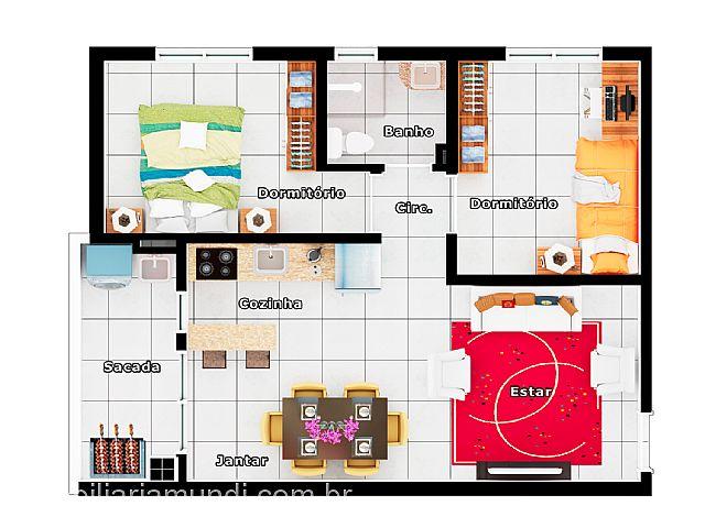 Mundi Imobiliária Gravataí - Apto 2 Dorm, Barnabé - Foto 6