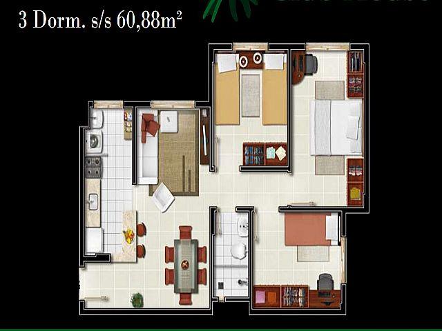 Imobiliária Gestão - Apto 3 Dorm, Centro, Gravataí - Foto 9