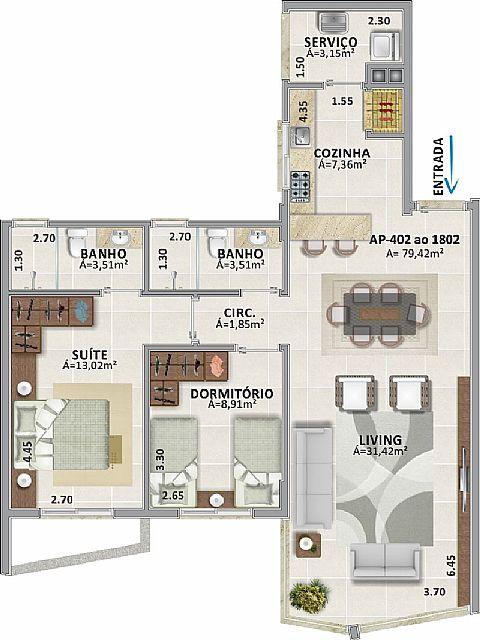 Imobiliária Silva Santos - Apto 3 Dorm, Centro - Foto 5