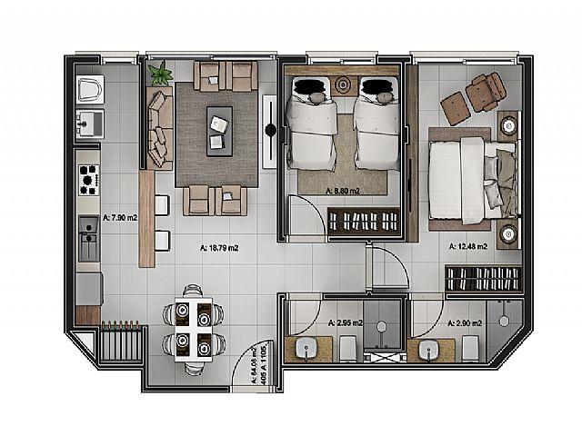 Imobiliária Silva Santos - Apto 2 Dorm, Navegantes - Foto 4