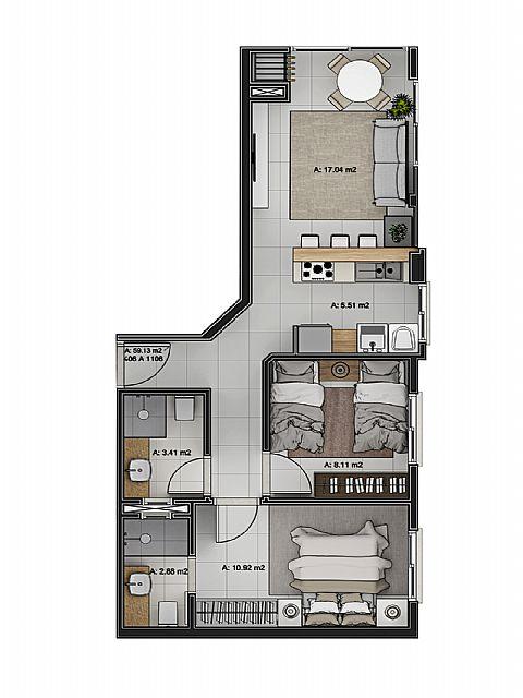 Imobiliária Silva Santos - Apto 2 Dorm, Navegantes - Foto 3