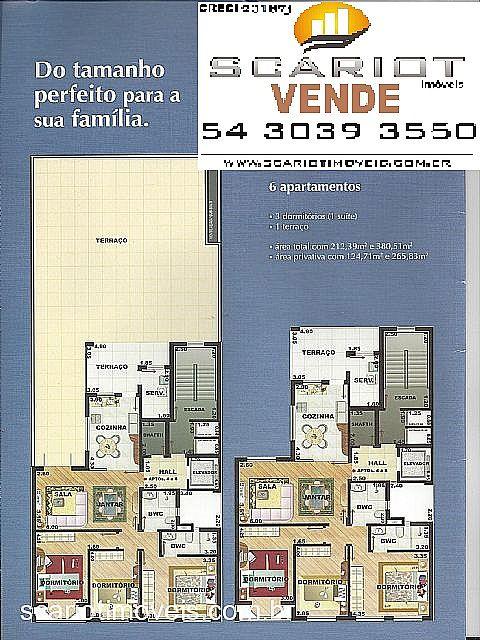 Apto 3 Dorm, Rio Branco, Caxias do Sul (197843)