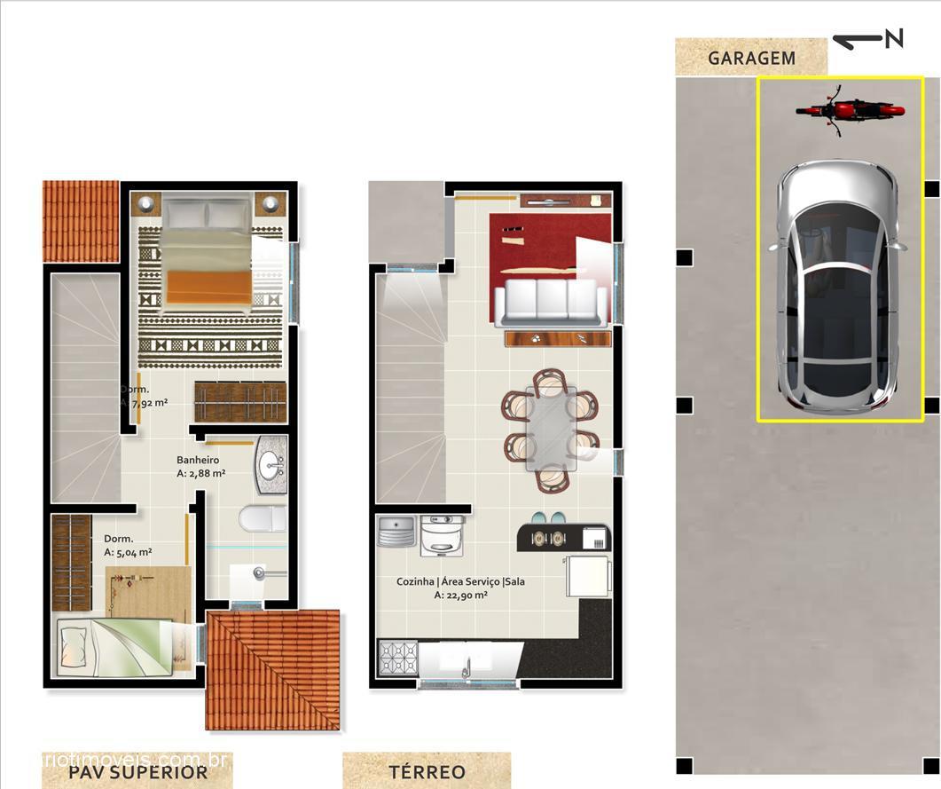 Scariot Imóveis - Casa 2 Dorm, Caxias do Sul - Foto 2