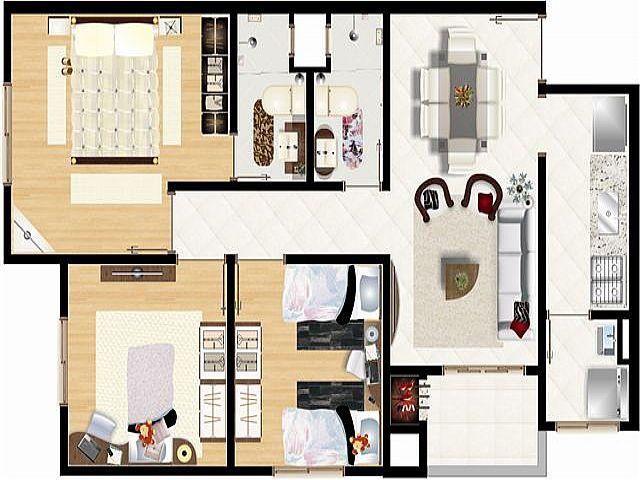 Imobiliária Lottici - Apto 3 Dorm, Marechal Rondon - Foto 7