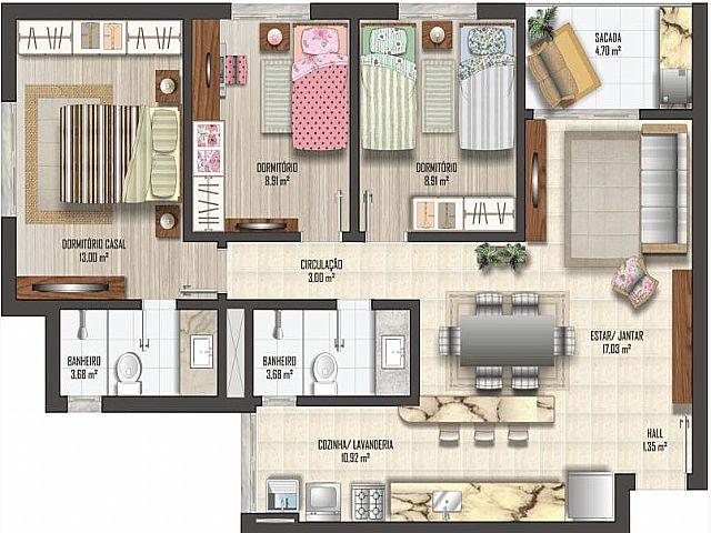 Imobiliária Lottici - Apto 3 Dorm, Canoas (270617) - Foto 4