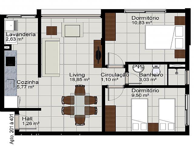 Apto 1 Dorm, União, Estancia Velha (305588) - Foto 9