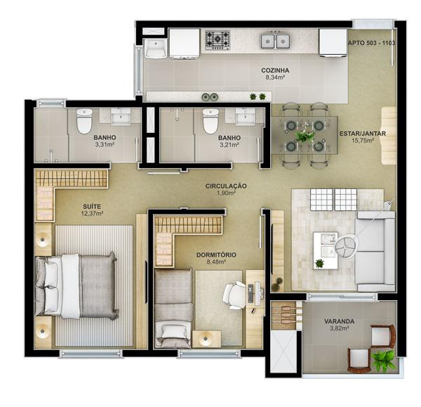 AtendeBem Imóveis - Apto 2 Dorm, Centro (367454) - Foto 3