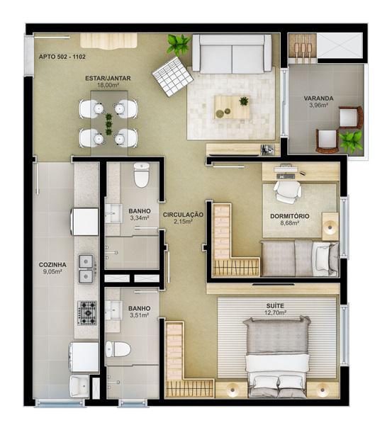 AtendeBem Imóveis - Apto 2 Dorm, Centro (367454) - Foto 2