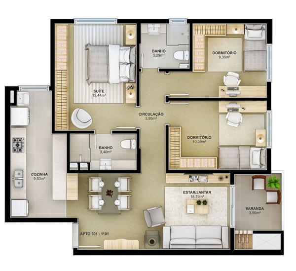 AtendeBem Imóveis - Apto 3 Dorm, Centro (367461) - Foto 2